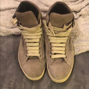 Tom Ford suede grey high tops